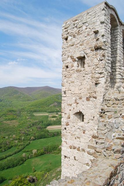 Castle wall estate.