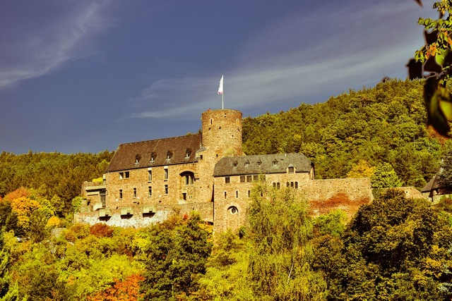 Castle wall middle ages.