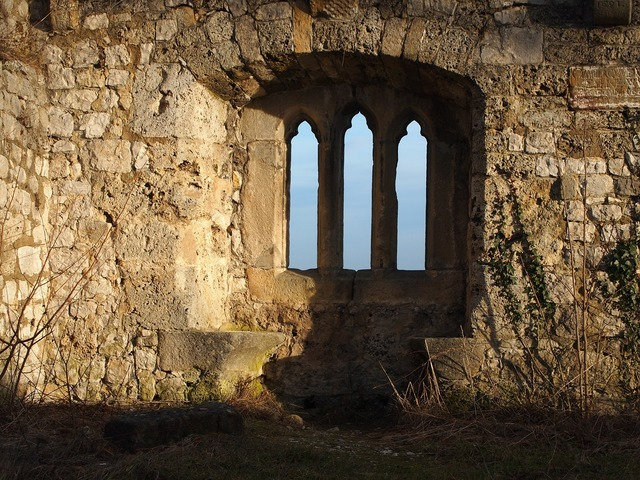 Castle window middle ages.