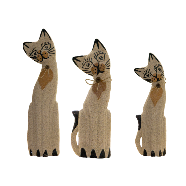 Cat figure decoration, animals.