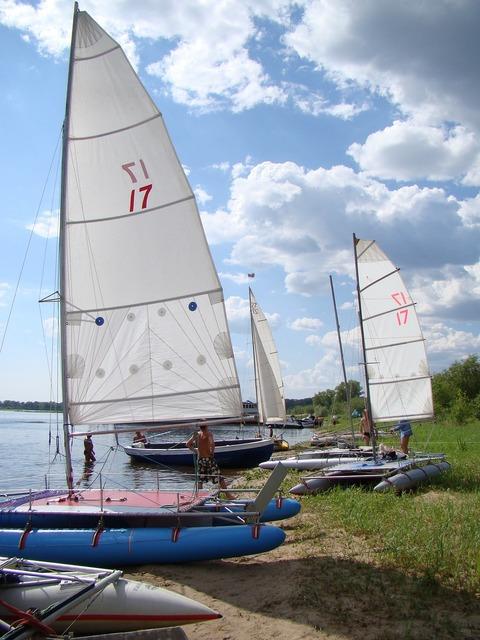 Catamarans inflatable sailing, travel vacation.
