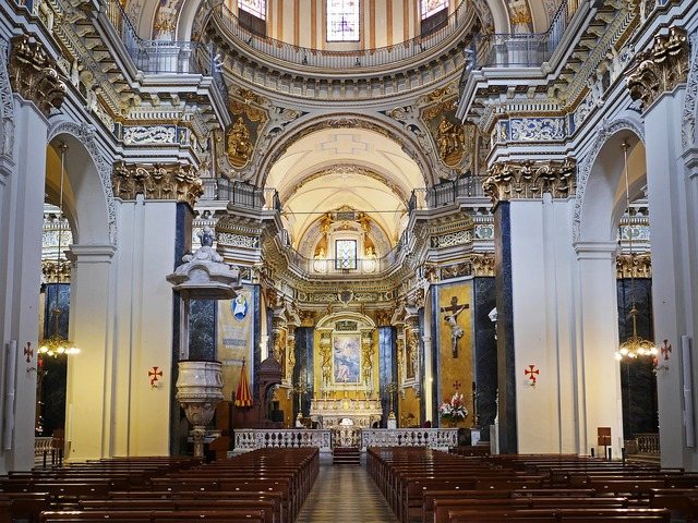 Cathedral nice italian baroque, religion.