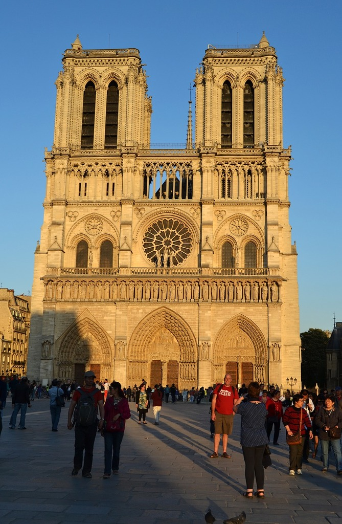 Cathedral notre-dam france, architecture buildings.