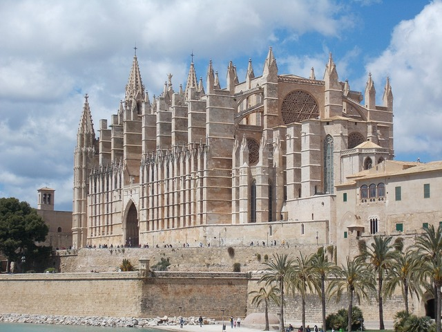 Cathedral of saint mary palma mallorca, architecture buildings.