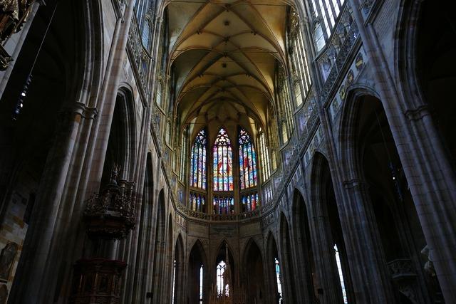 Cathedral prague church, religion.