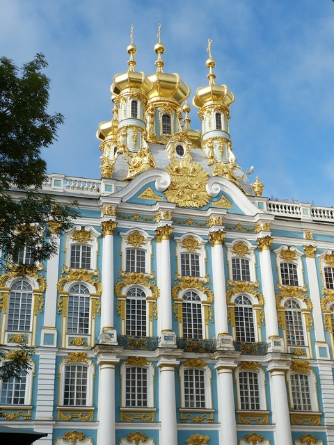 Catherine's palace st petersburg russia, architecture buildings.
