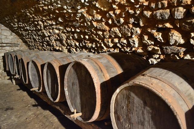 Cave barrel wine.