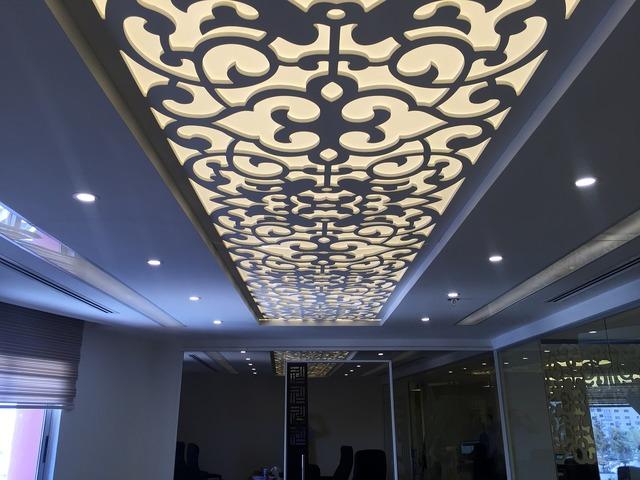 Ceiling design interior, architecture buildings.