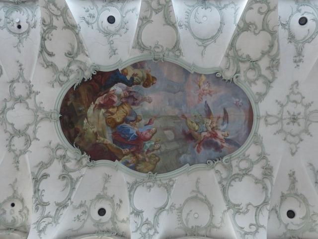 Ceiling painting blanket collegiate church of st peter.