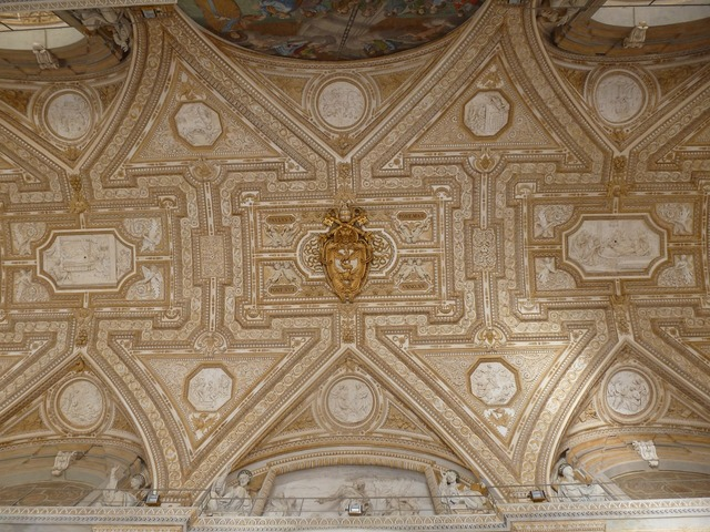 Ceiling vatican st peters, religion.