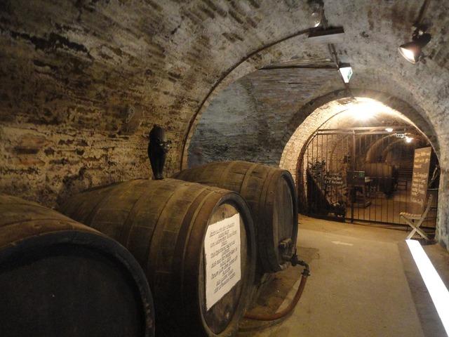 Cellar barrel wine barrel.
