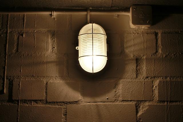 Cellar lamp masonry keller.