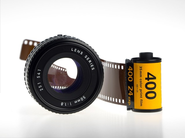 Celluloid film 35mm, science technology.