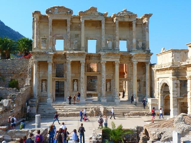 Celsus library ruins ephesus.