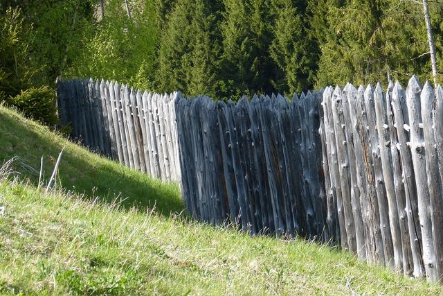 Celts village palisade military fence.
