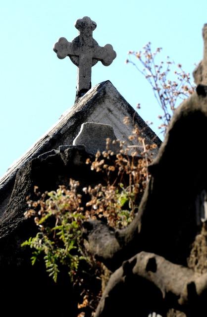 Cemetery cross building, architecture buildings.