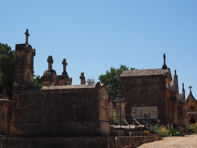 Cemetery graves gravestone, religion.