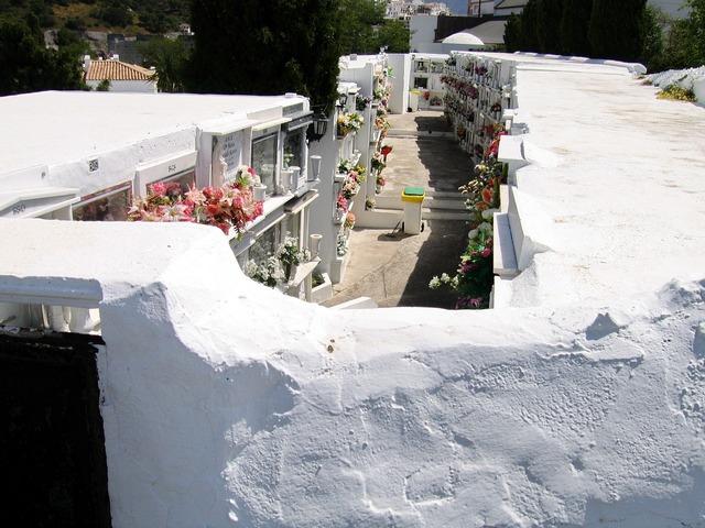 Cemetery graves spain.