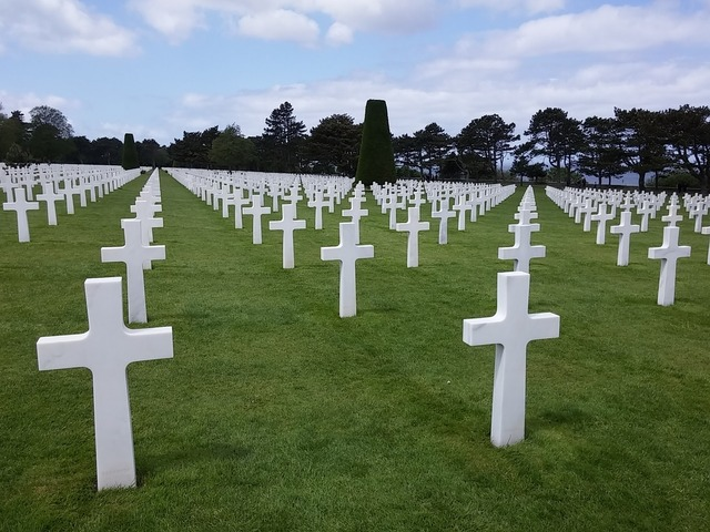 Cemetery normandy americans.