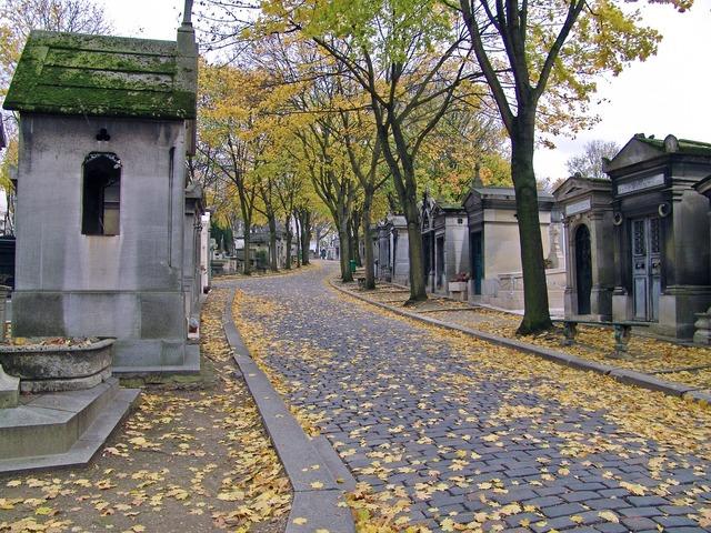 Cemetery paris père lachaise.