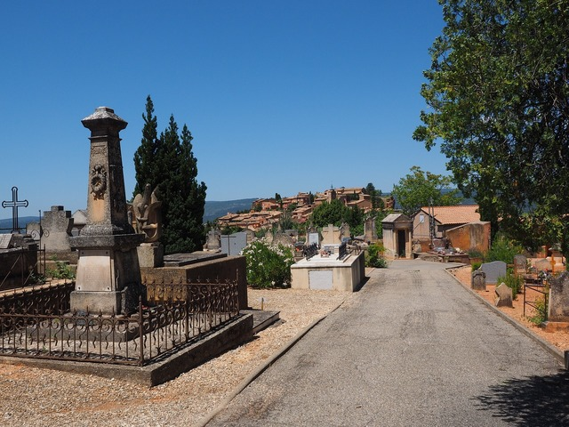 Cemetery roussillon old cemetery, religion.
