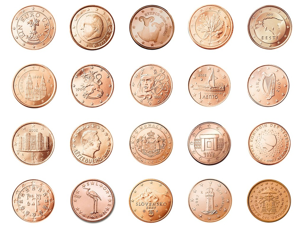 Cent 1 coin, business finance.
