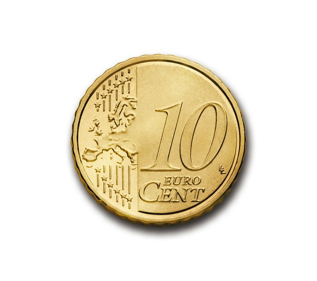 Cent 10 euro, business finance.