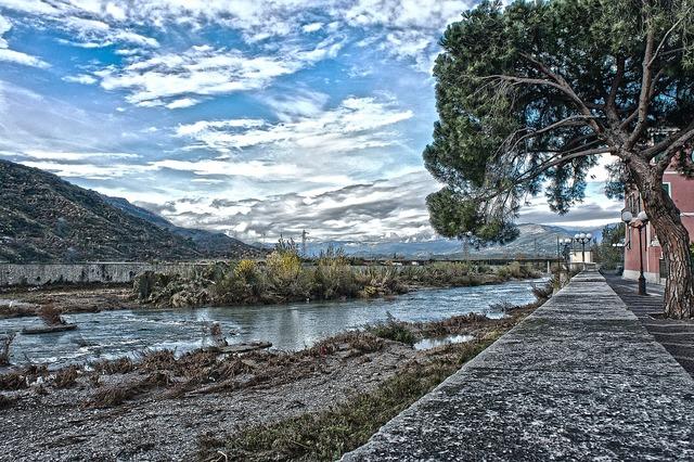 Centa river albenga, nature landscapes.