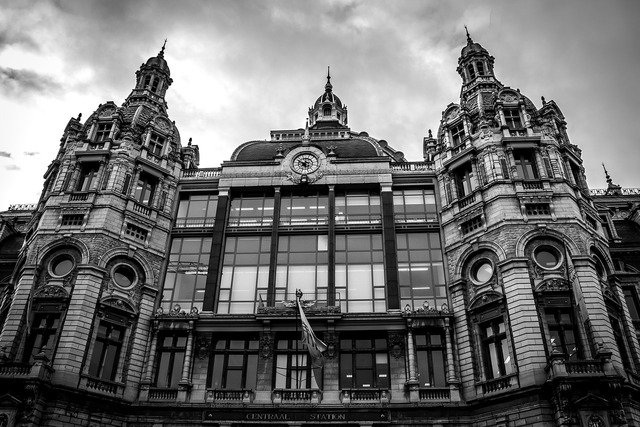 Central station station antwerp, architecture buildings.
