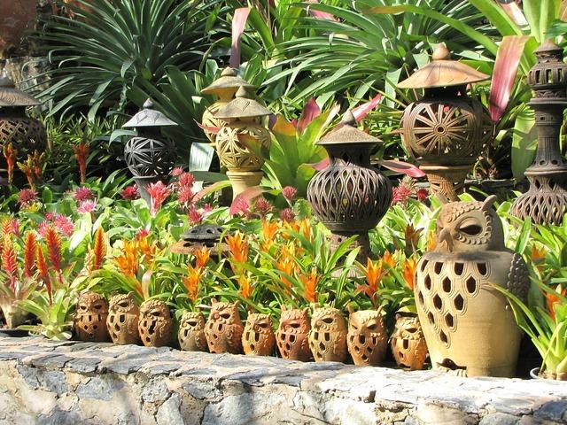 Ceramics nong nooch garden tropical garden.