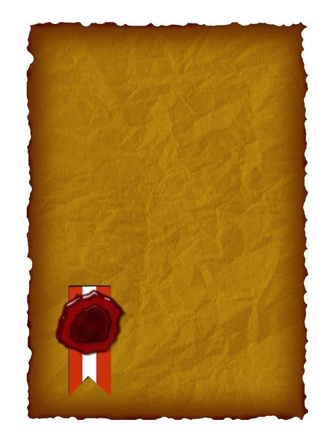 Certificate parchment seal.
