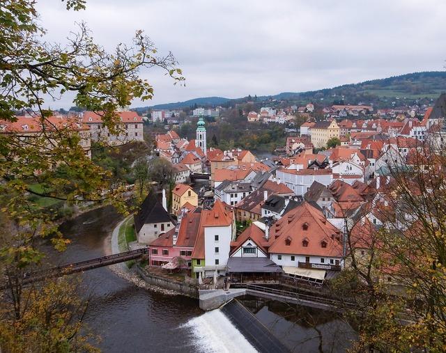 Cesky krumlov czech, architecture buildings.