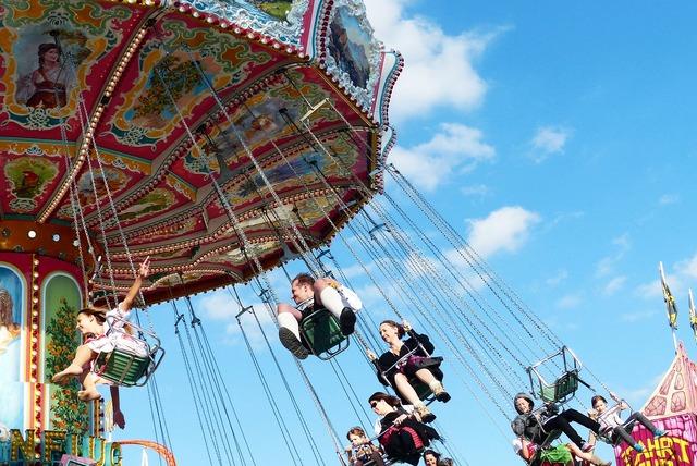 Chain carousel aviator carousel historical fahrgeschäft.