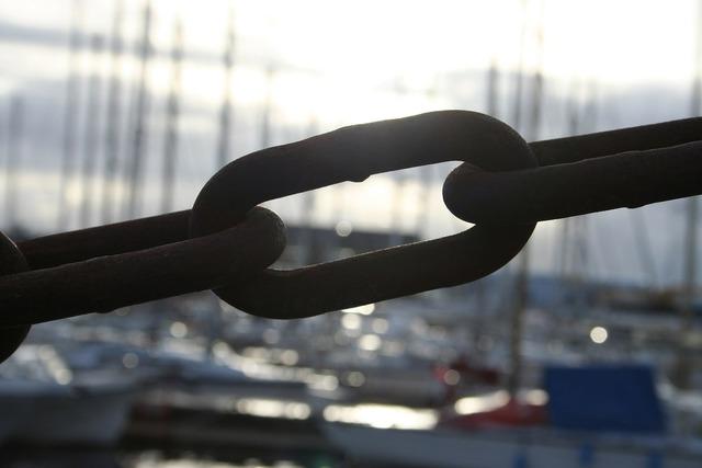Chain link metal.