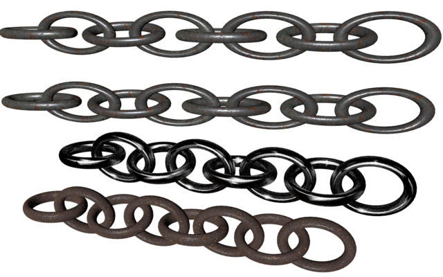 Chains png isolated.
