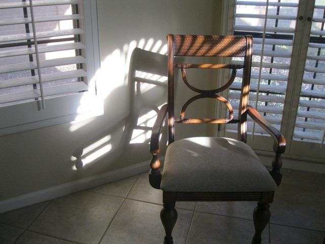 Chair light sunlight.