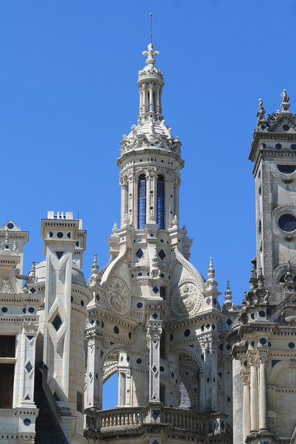 Chambord renaissance france, architecture buildings.