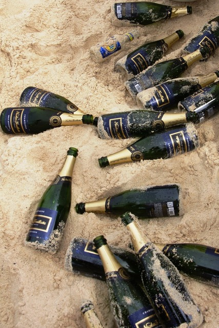 Champagne beach festival, travel vacation.