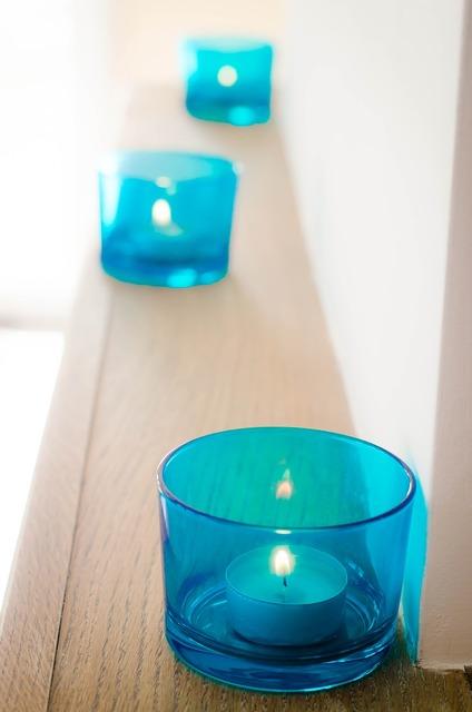Chandelier candle decoration.