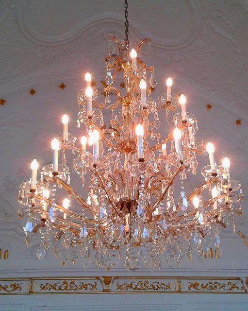 Chandelier lamp lighting.