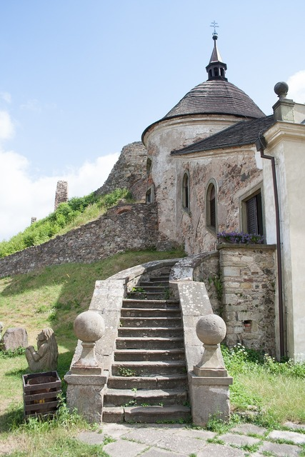 Chapel castle stairs.