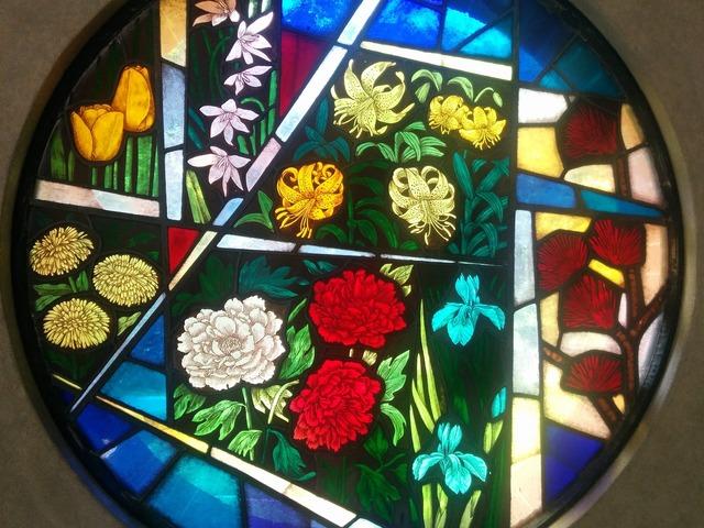 Chapel glass window art.