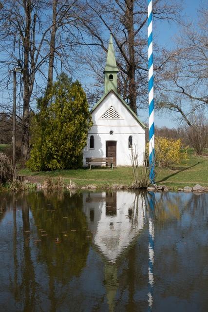 Chapel pond dorfteich, nature landscapes.