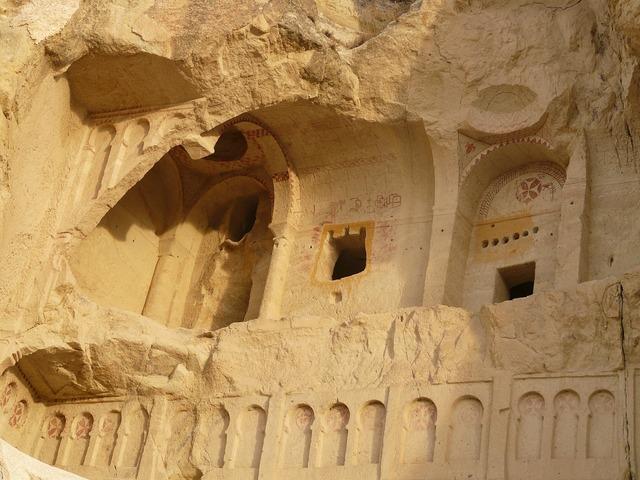 Chapels monasteries volcanic rocks, religion.