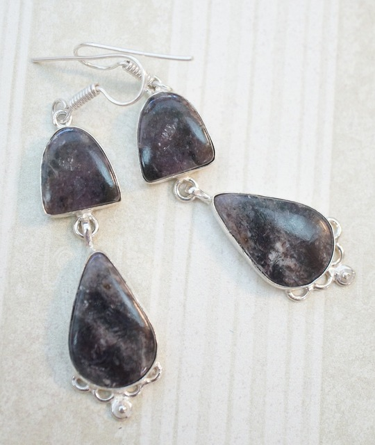 Charoite purple dark, beauty fashion.