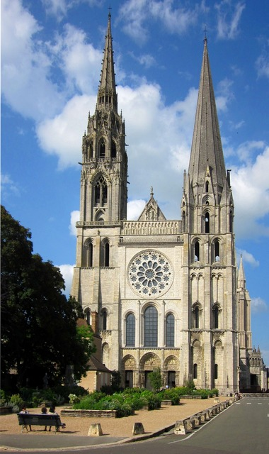 Chartres cathedral medieval cathedral, architecture buildings.