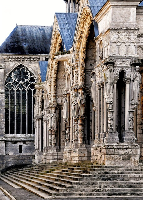 Chartres cathedral porch.