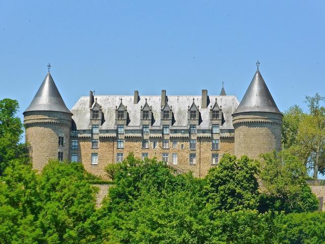 Chateau castle towers, architecture buildings.
