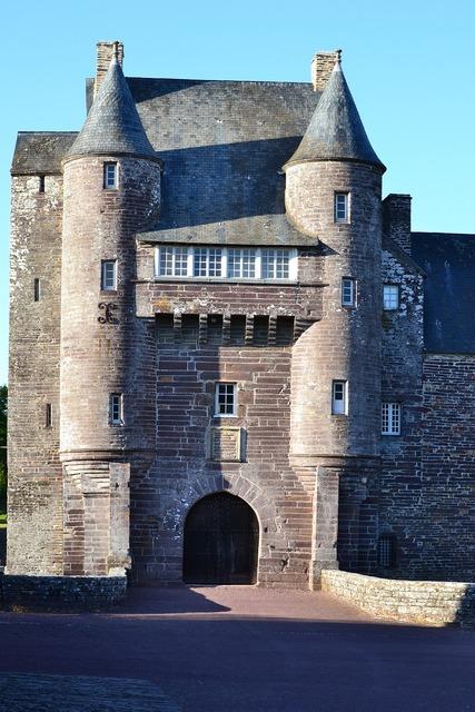 Château de trécesson brocéliande brittany.