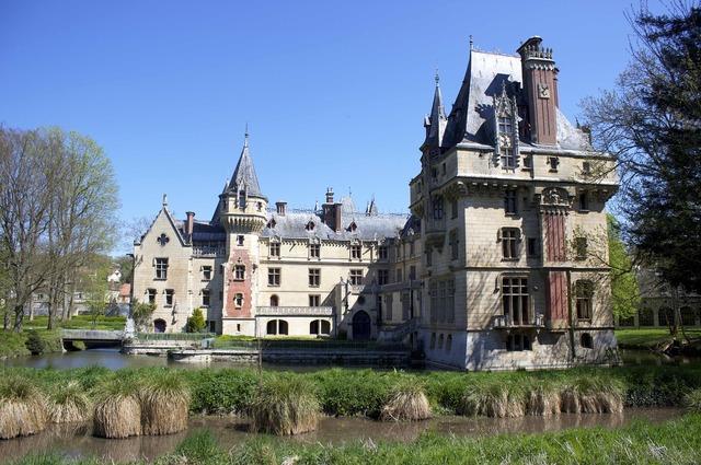 Château de vigny facade france.